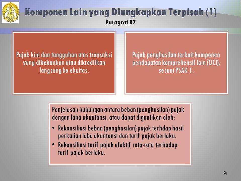 Komponen Lain yang Diungkapkan Terpisah (1) Paragraf 87