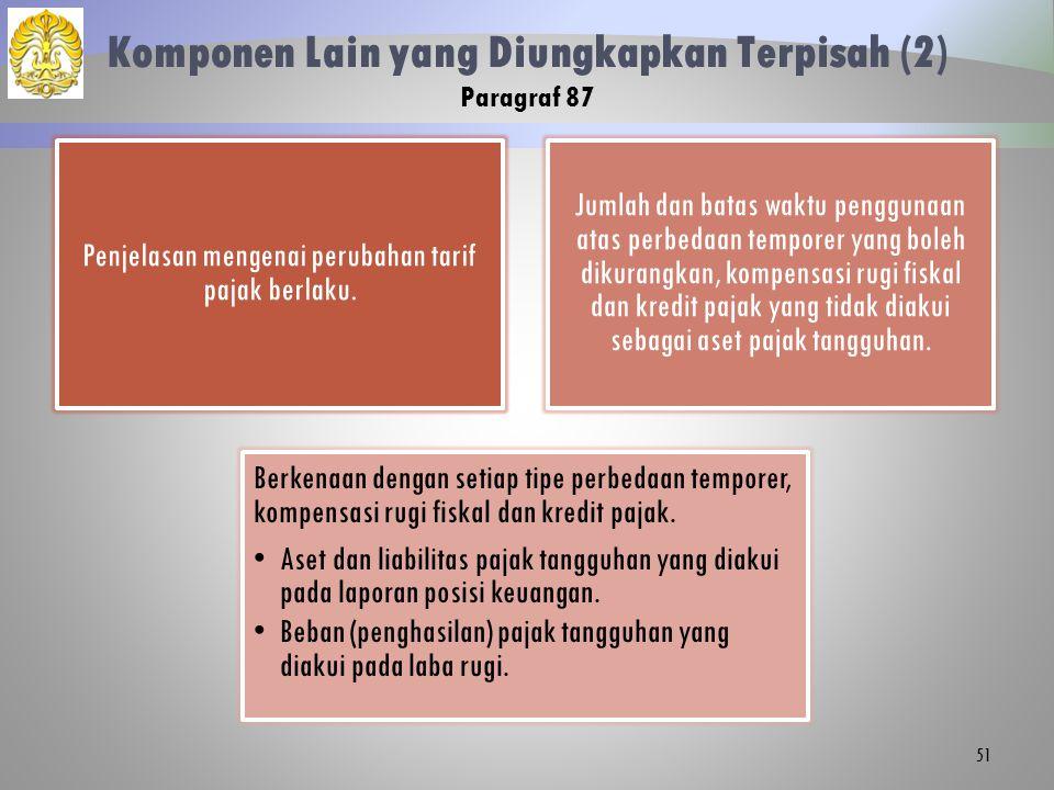Komponen Lain yang Diungkapkan Terpisah (2) Paragraf 87
