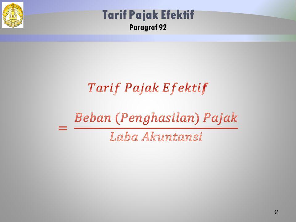 Tarif Pajak Efektif Paragraf 92