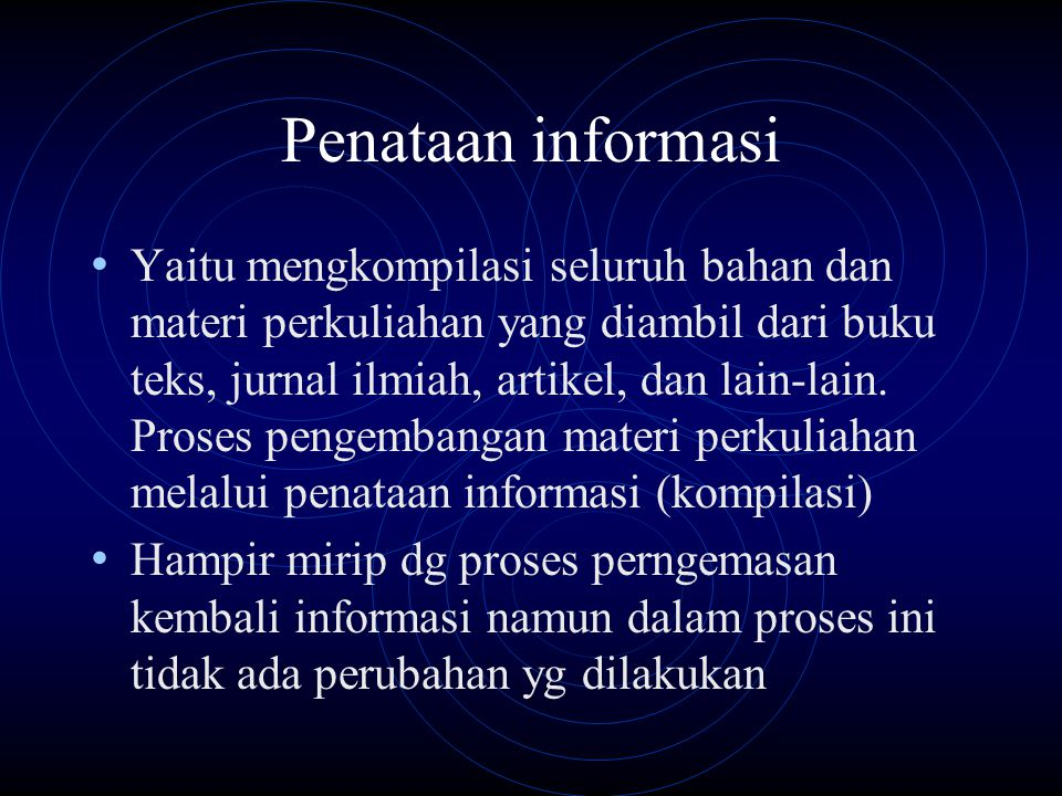 Penataan informasi