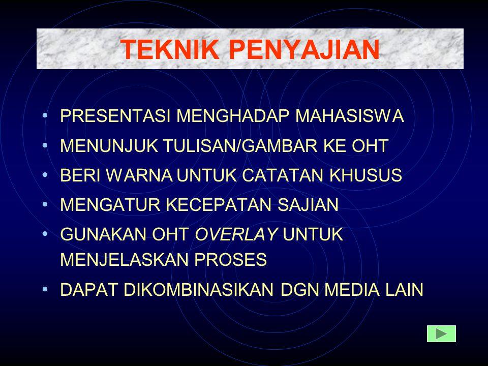 TEKNIK PENYAJIAN PRESENTASI MENGHADAP MAHASISWA