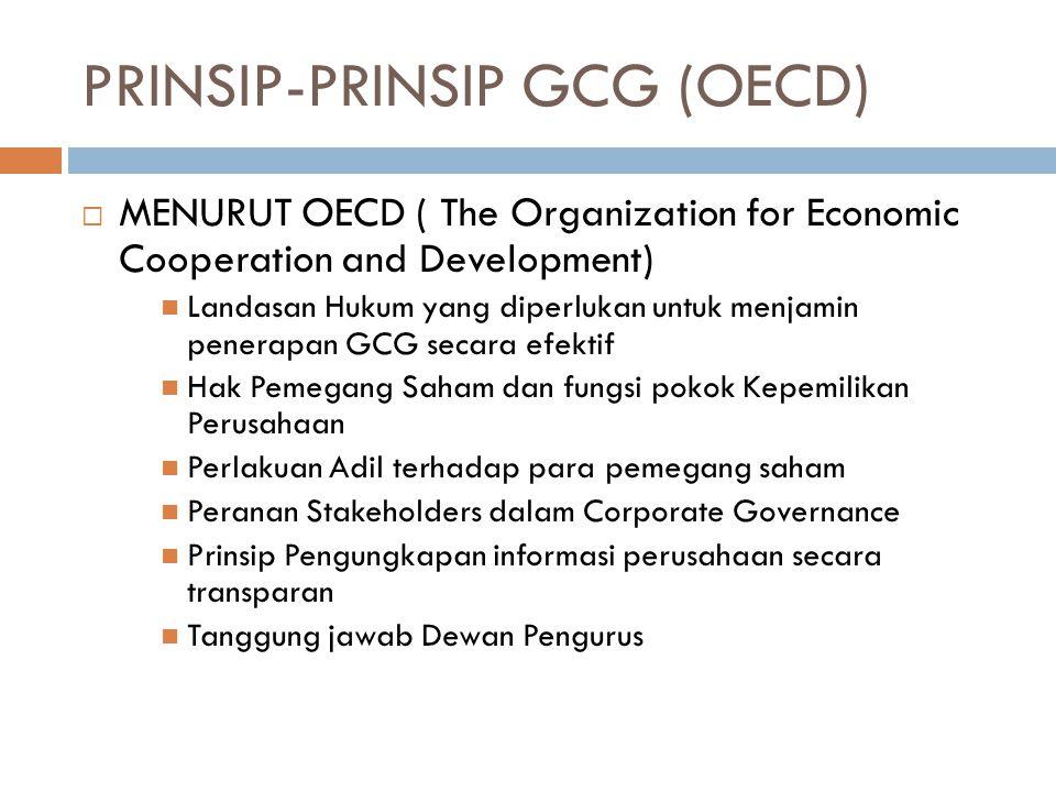 PRINSIP-PRINSIP GCG (OECD)