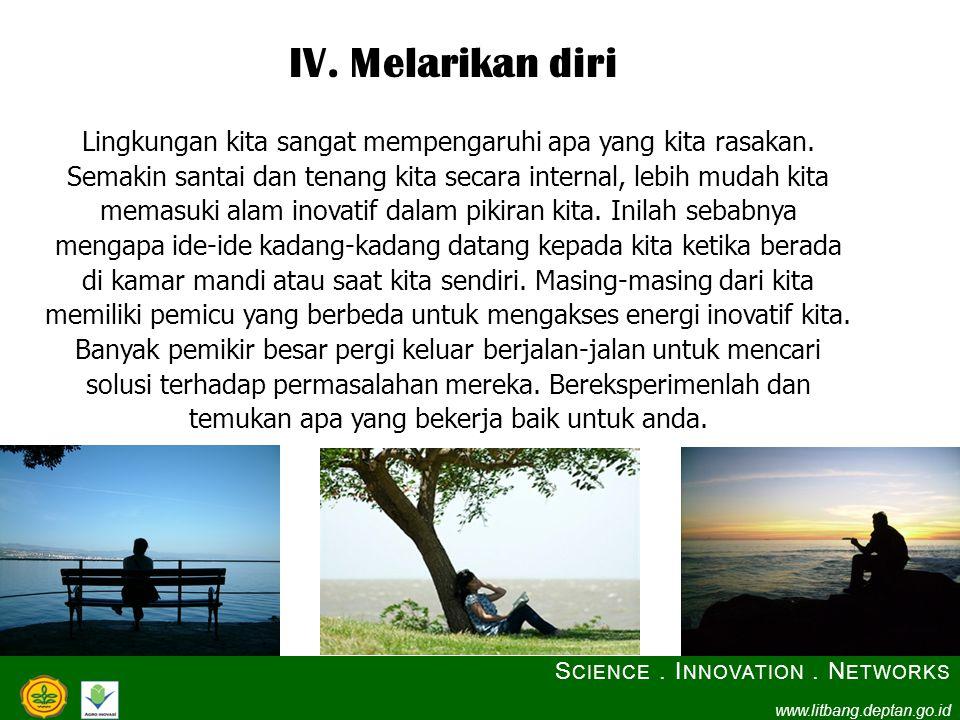 IV. Melarikan diri