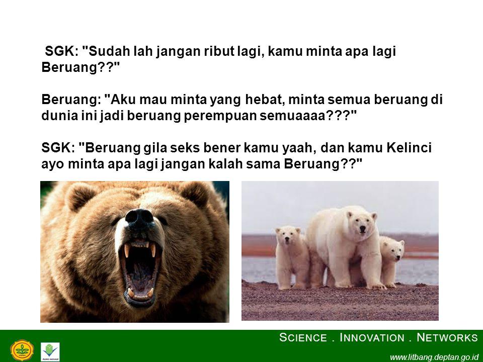 SGK: Sudah lah jangan ribut lagi, kamu minta apa lagi Beruang