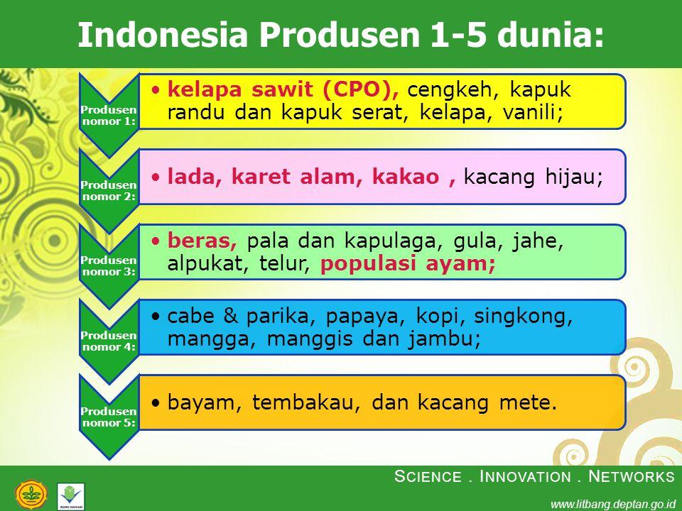 Indonesia Produsen 1-5 dunia: