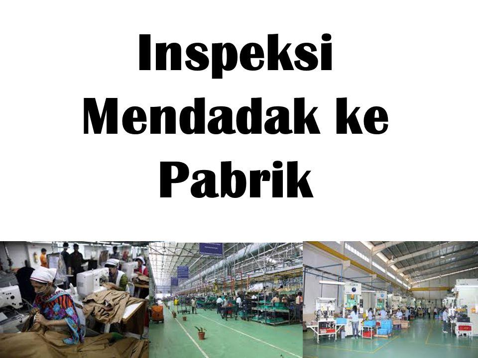 Inspeksi Mendadak ke Pabrik