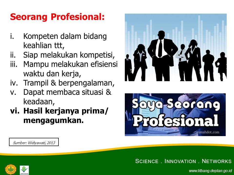 Seorang Profesional: Kompeten dalam bidang keahlian ttt,