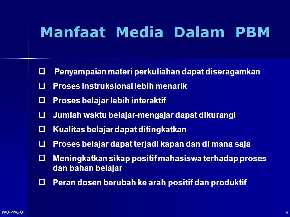 Manfaat Media Dalam PBM