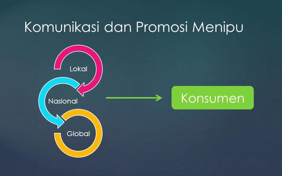 Komunikasi dan Promosi Menipu