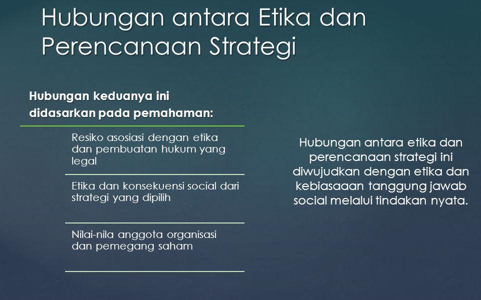Hubungan antara Etika dan Perencanaan Strategi