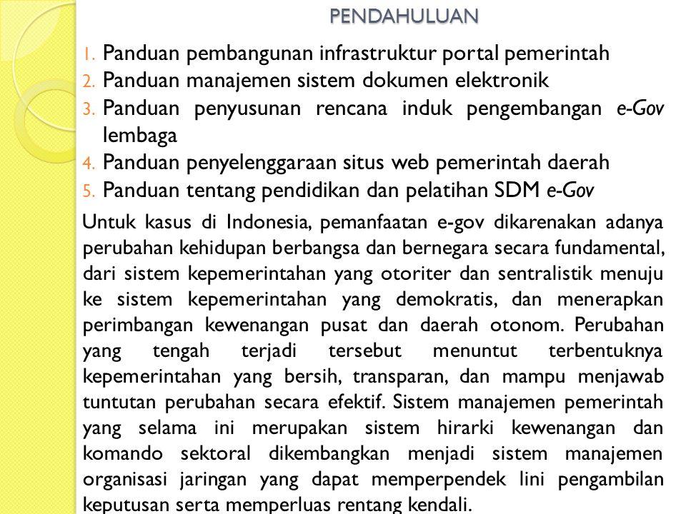 Panduan pembangunan infrastruktur portal pemerintah
