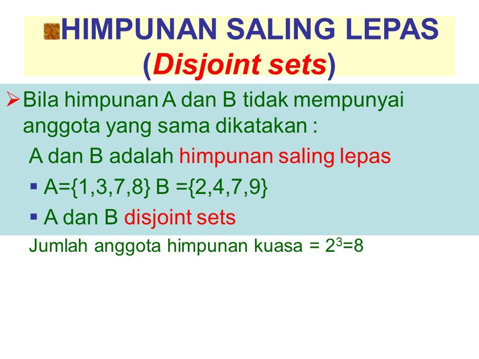 HIMPUNAN SALING LEPAS (Disjoint sets)