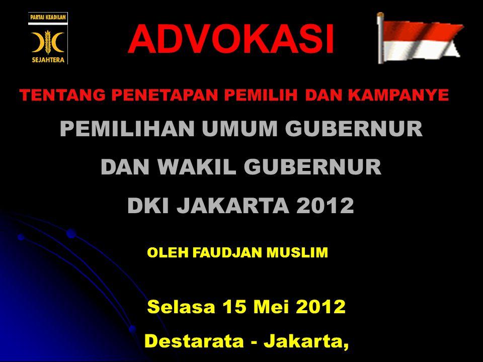 PEMILIHAN UMUM GUBERNUR DAN WAKIL GUBERNUR DKI JAKARTA 2012