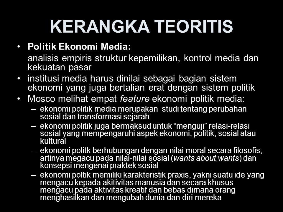 KERANGKA TEORITIS Politik Ekonomi Media:
