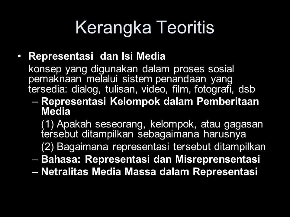 Kerangka Teoritis Representasi dan Isi Media