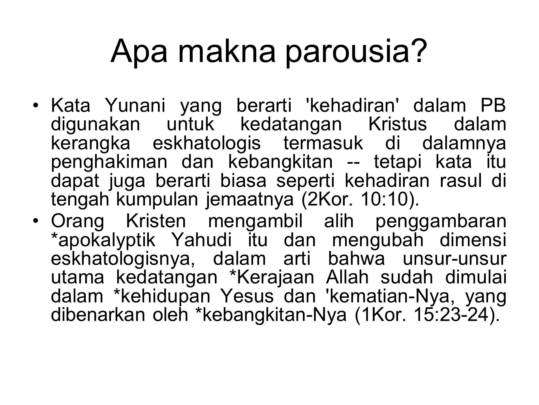 Apa makna parousia