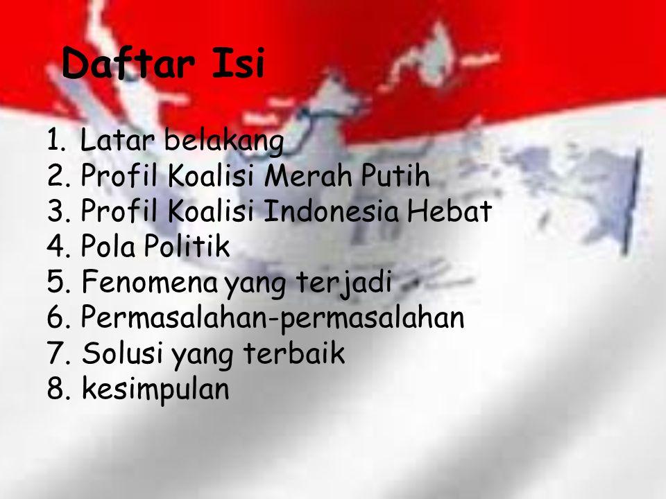 Daftar Isi Latar belakang Profil Koalisi Merah Putih