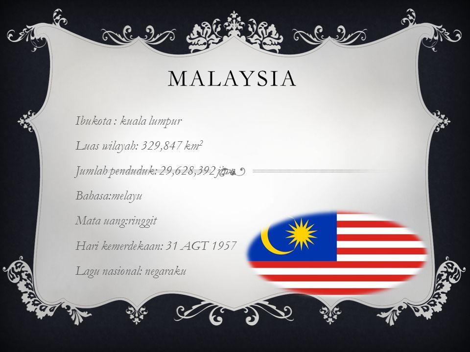 malaysia Ibukota : kuala lumpur Luas wilayah: 329,847 km2