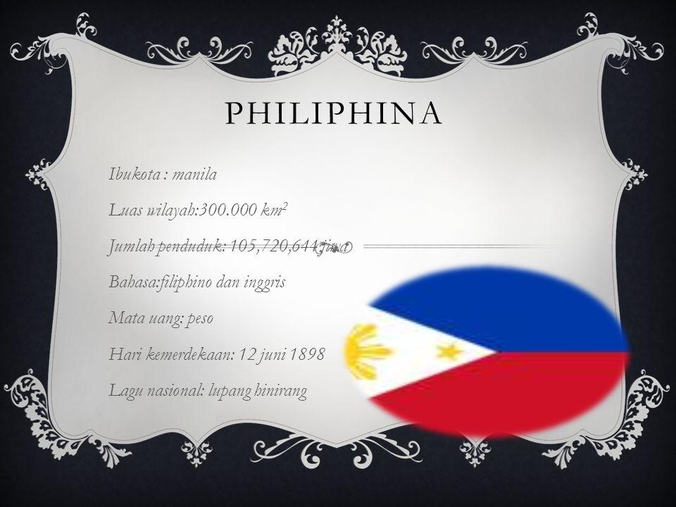philiphina Ibukota : manila Luas wilayah:300.000 km2