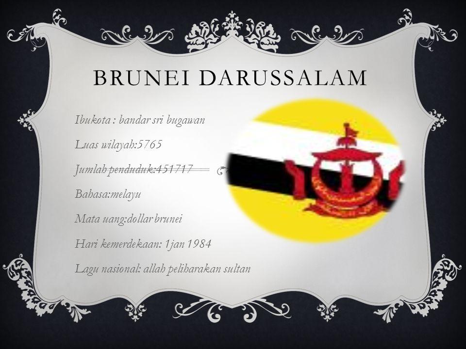 Brunei darussalam Ibukota : bandar sri bugawan Luas wilayah:5765