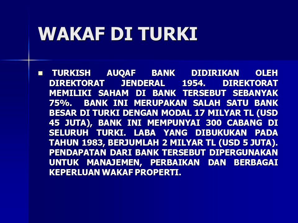 WAKAF DI TURKI