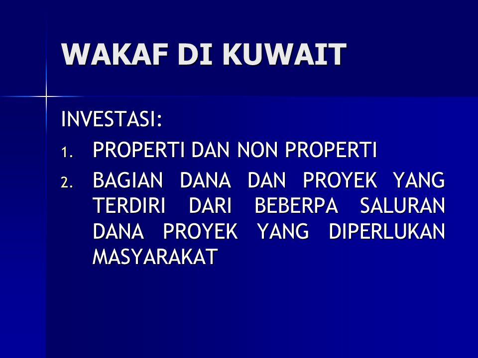 WAKAF DI KUWAIT INVESTASI: PROPERTI DAN NON PROPERTI