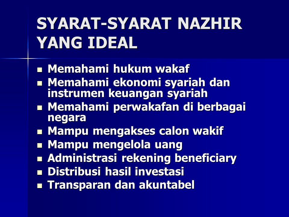 SYARAT-SYARAT NAZHIR YANG IDEAL