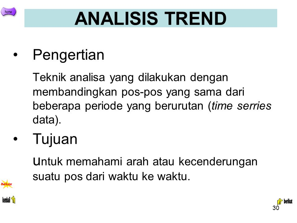 ANALISIS TREND Pengertian