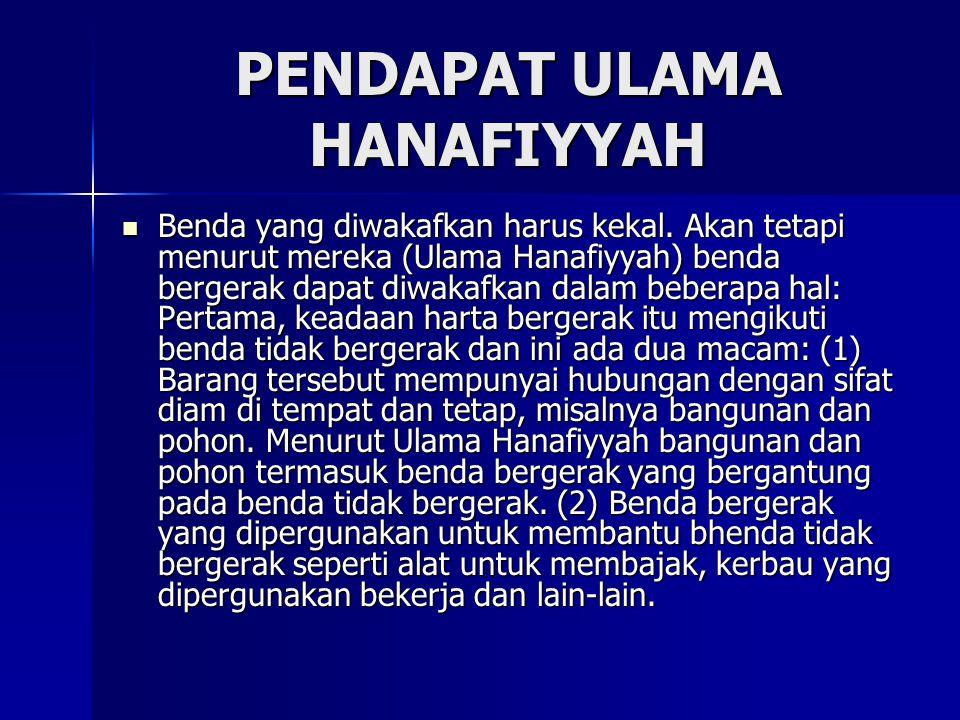 PENDAPAT ULAMA HANAFIYYAH