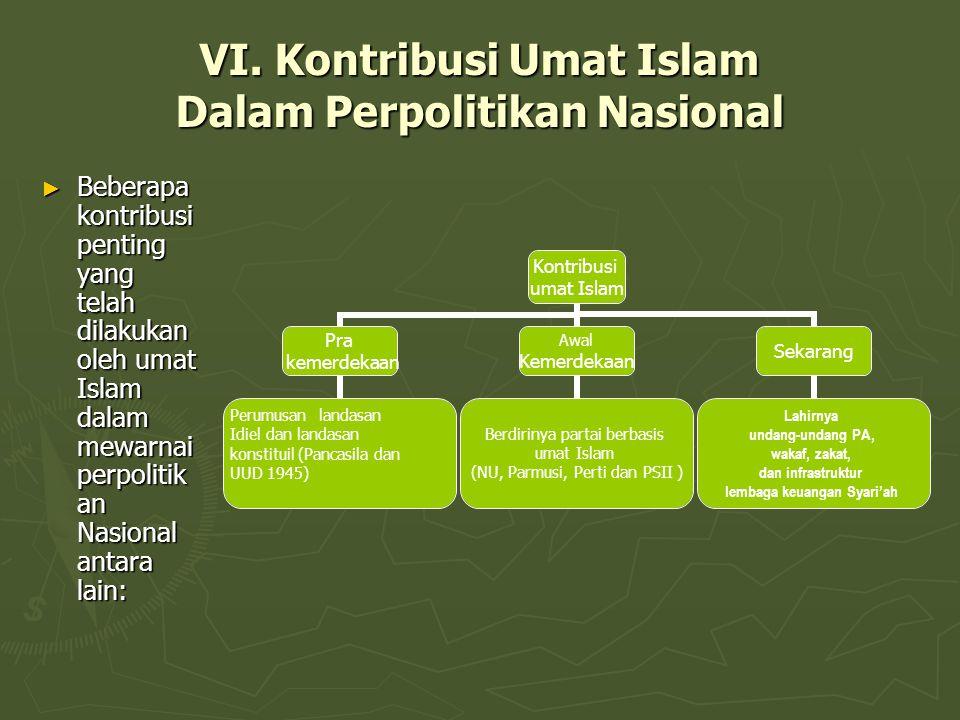 VI. Kontribusi Umat Islam Dalam Perpolitikan Nasional