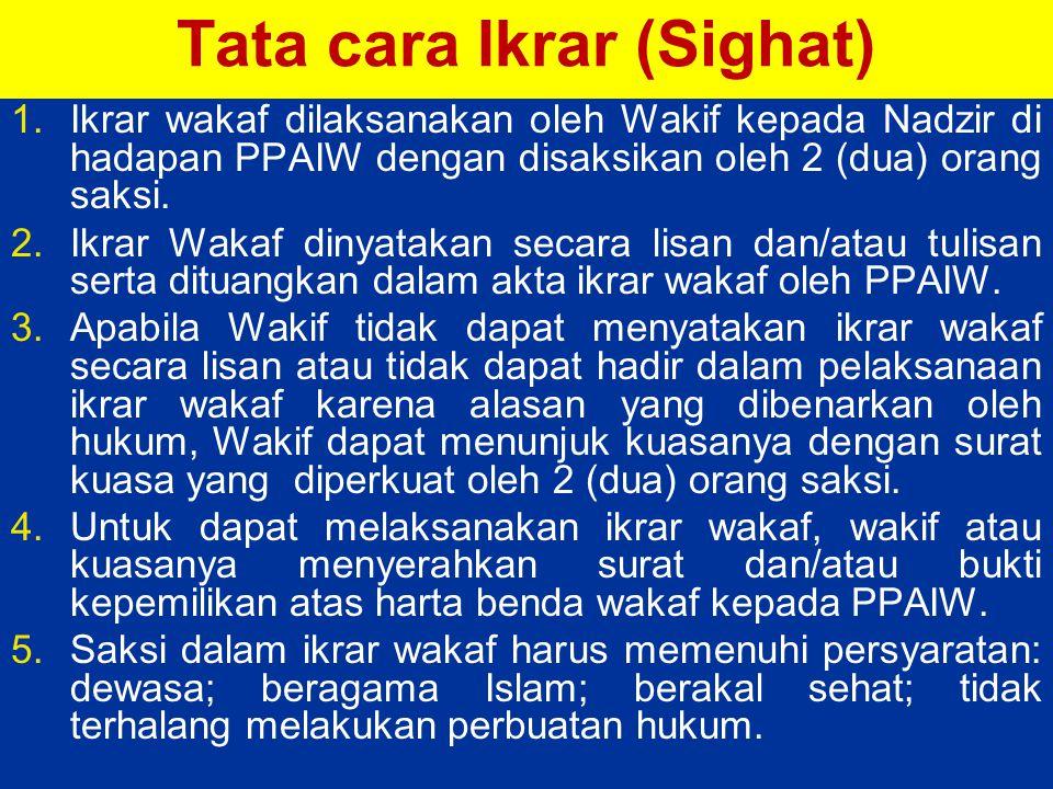 Tata cara Ikrar (Sighat)