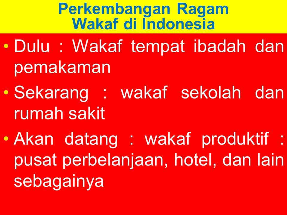 Perkembangan Ragam Wakaf di Indonesia