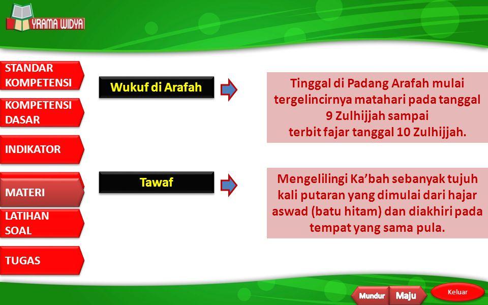 Tinggal di Padang Arafah mulai