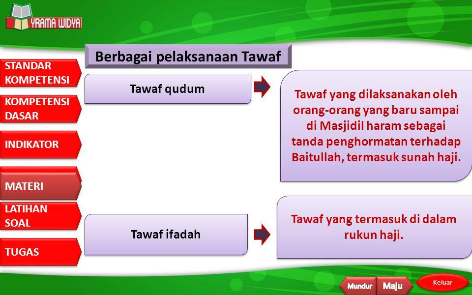 Berbagai pelaksanaan Tawaf Tawaf yang termasuk di dalam rukun haji.