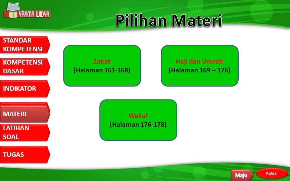 Pilihan Materi Zakat (Halaman 161-168) Haji dan Umrah