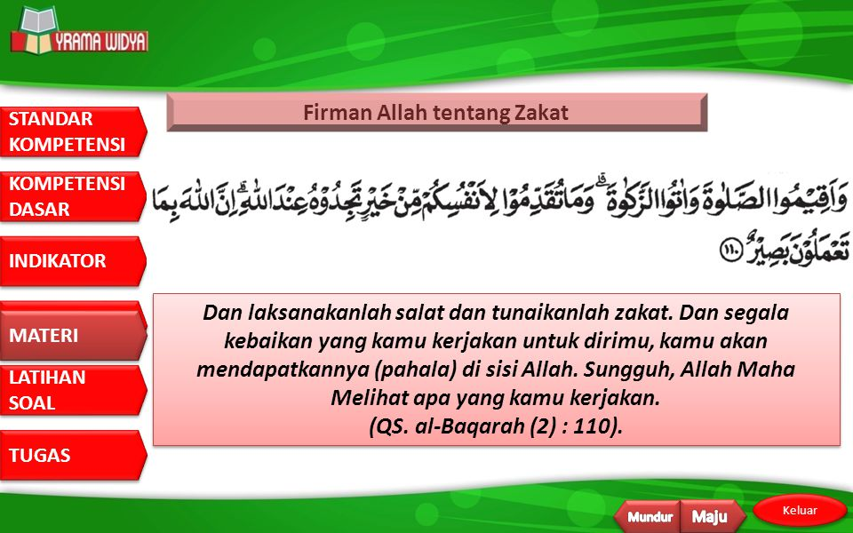 Firman Allah tentang Zakat