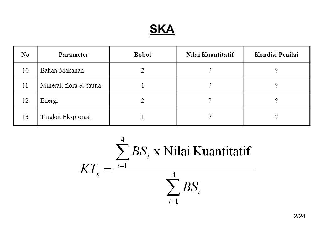 SKA No Parameter Bobot Nilai Kuantitatif Kondisi Penilai 10