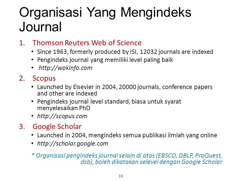 Organisasi Yang Mengindeks Journal