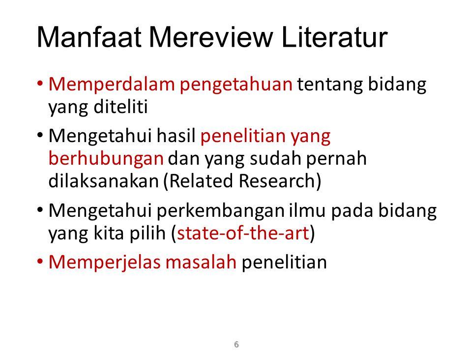 Manfaat Mereview Literatur