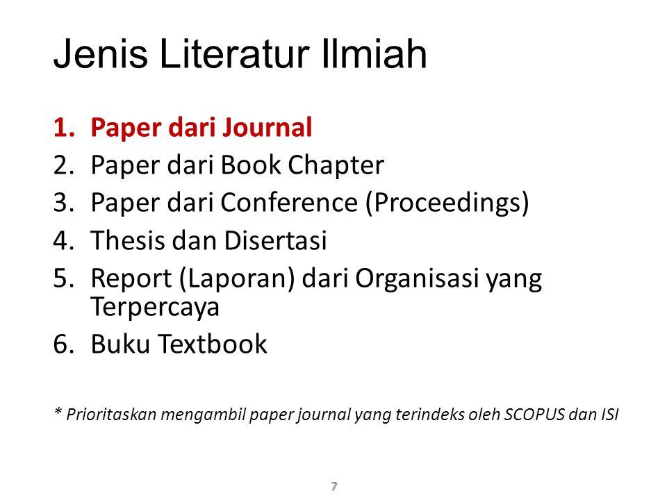 Jenis Literatur Ilmiah