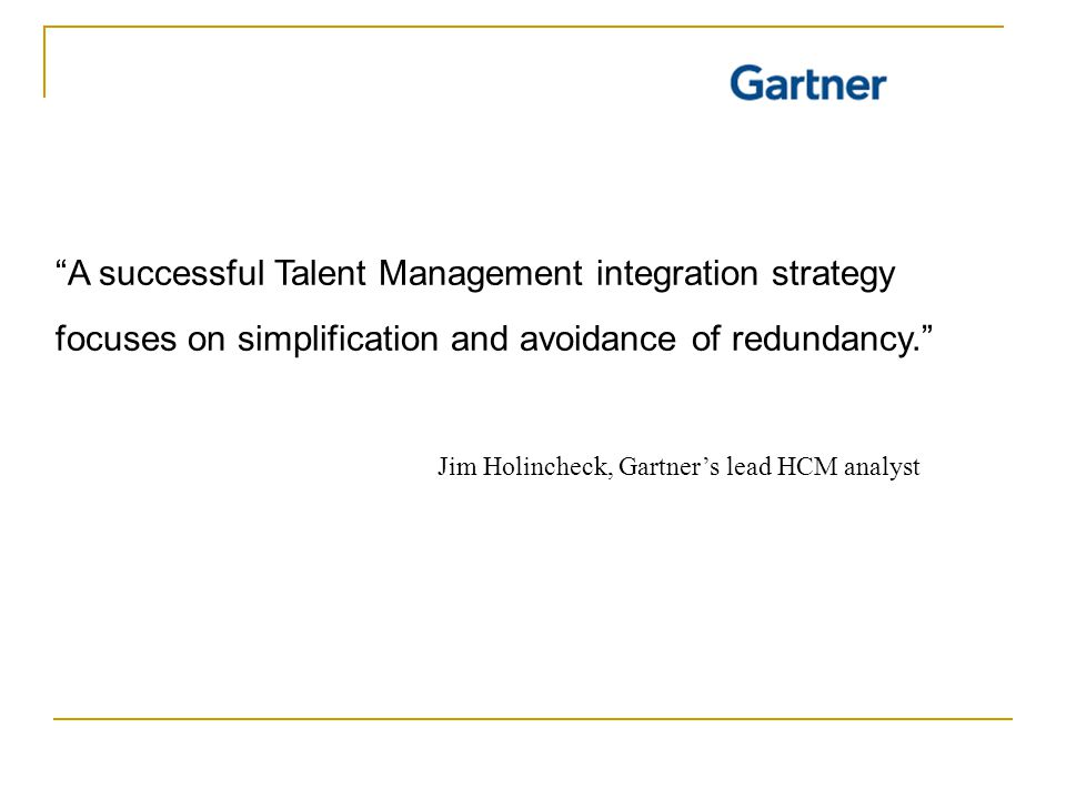 A successful Talent Management integration strategy