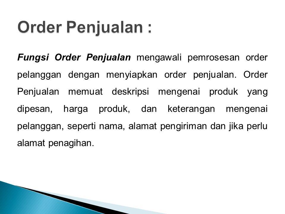 Order Penjualan :
