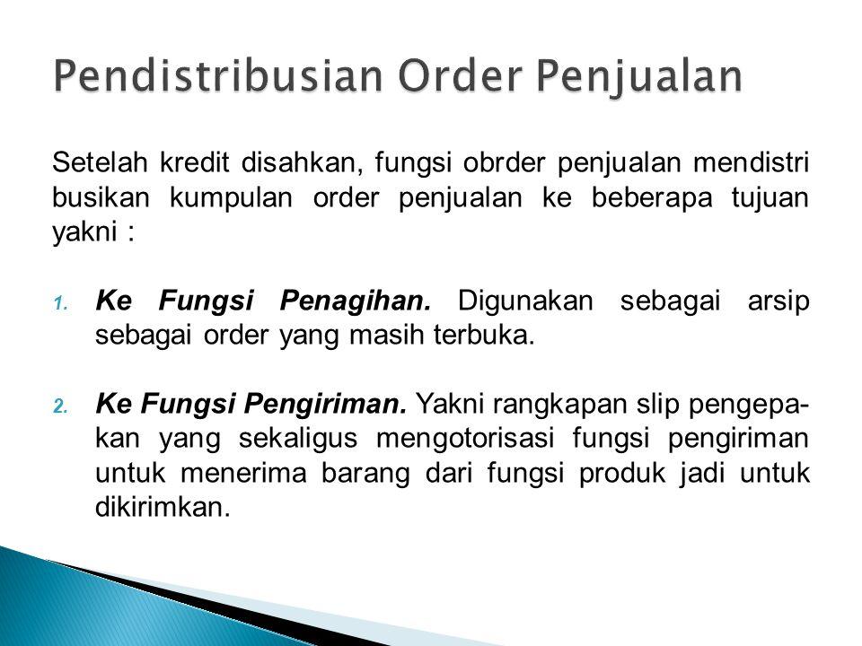 Pendistribusian Order Penjualan