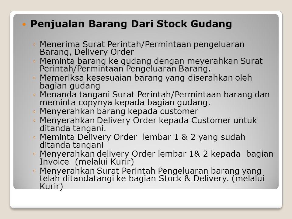 Penjualan Barang Dari Stock Gudang