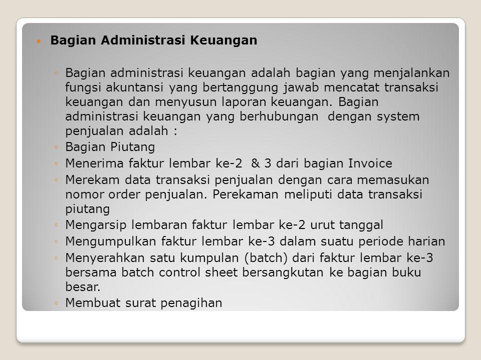 Bagian Administrasi Keuangan
