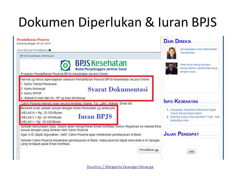 Dokumen Diperlukan & Iuran BPJS