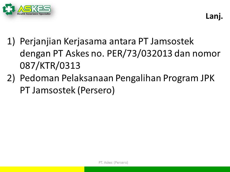 Pedoman Pelaksanaan Pengalihan Program JPK PT Jamsostek (Persero)