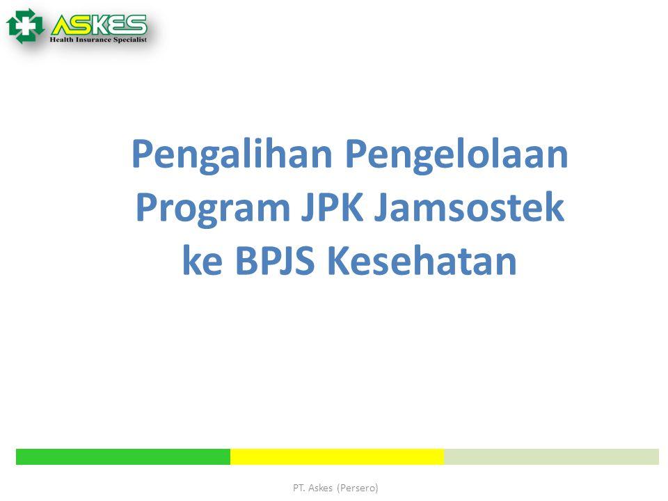 Pengalihan Pengelolaan Program JPK Jamsostek ke BPJS Kesehatan