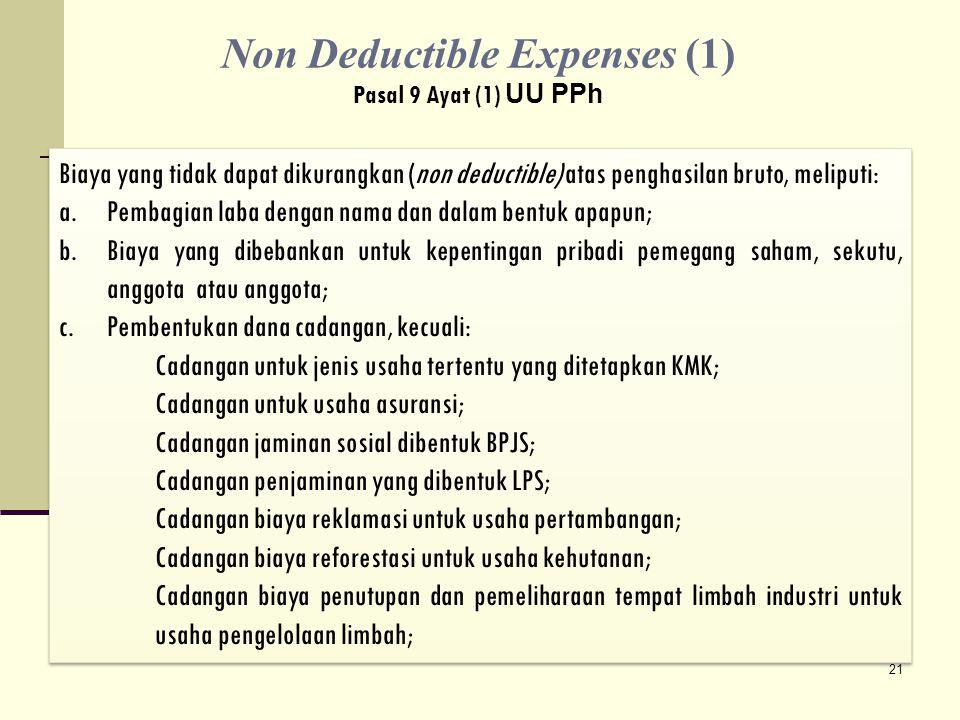 Non Deductible Expenses (1)