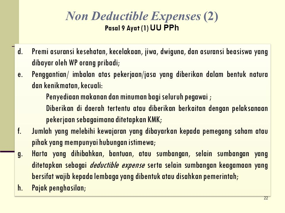 Non Deductible Expenses (2)